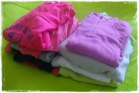 Arrumar as roupas de treino