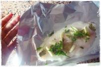 Peixe gato :( coloco a cozer na maquina a vapor juntamente c os legumes