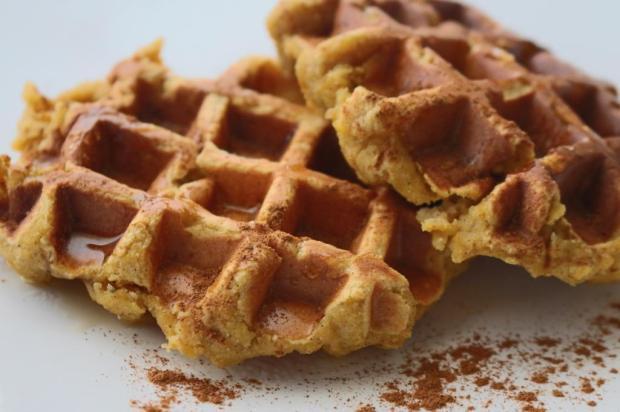 waffle saudavel de batata doce