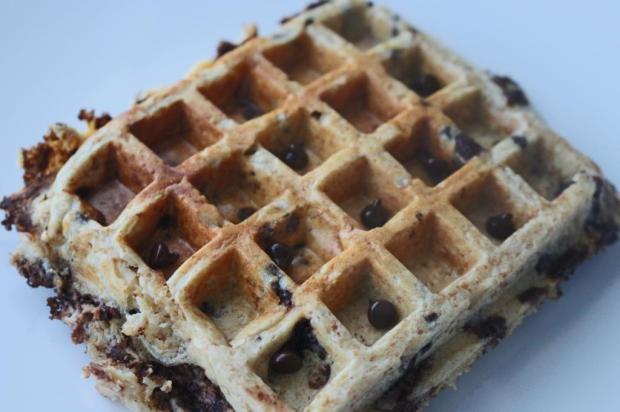 waffle saudavel de centeio integral