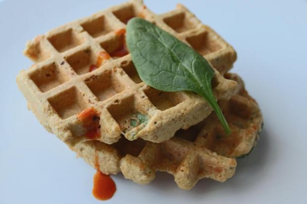 waffles de aveia picante