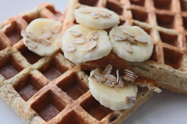 waffles de centeio integral