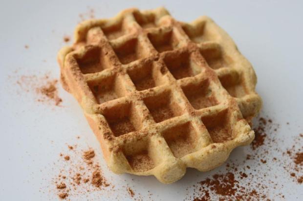 waffles de farinha de milho