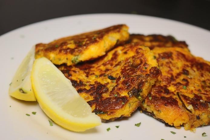 Hamburgueres de Batata-doce com queijo Halloumi