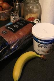 Pão proteico Myprotein + Banana + Manteiga de Amendoim Myprotein