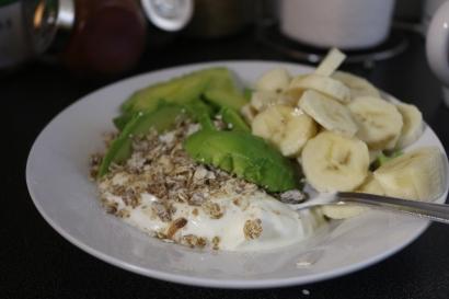 Abacate + alpen + banana