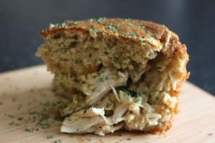 Torta de frango, aveia e queijo quark saudável. Receitas fit. Joanabbl Youtube (17)