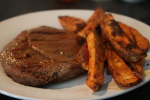 Batata doce em palitos carne de vaca Rapariga moderna - Joana banana blog
